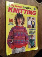 VINTAGE KNITTING PATTERN MAGAZINE MY WEEKLY KNITTING SPECIAL 60 PATTERNS TOYS
